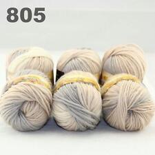 Sale Lot of 6Ballsx50g New Chunky Hand-woven Colors Knitting Scores wool yarn 05