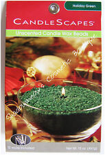 Candlescapes Wax Beads HOLIDAY GREEN 15 oz. No Mess Candle Free US Shipping