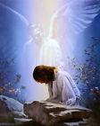 Dream-art Oil painting Christ Jesus dreamed of an angel sleeping in field canvas