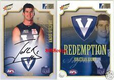 2008 SELECT AFL SIGNATURE: JONATHAN BROWN #47/100 DREAM TEAM REDEMPTION BRISBANE