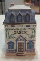 LENOX Spice Village Fine Porcelain GARLIC House 1989 Handcrafted