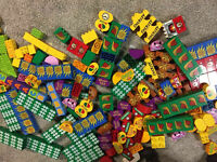 50 random lego duplo1X2X2 2X2 2X3 2X4 block plate curved bricks printed