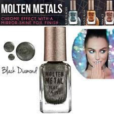 Barry M Make Up - Molten Metals Range - Nail Paint - Nail Varnish Black Diamond