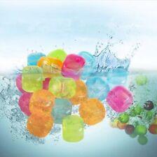 18pc nuevo reutilizable Cubos de hielo multicolores congelación rápida Plástico Cuadrado bloque de hielo