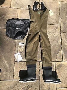 ORVIS Silver Label 2 FISHING BOOT CHEST WADERS SIZE MR8 with Felt Bottom boots