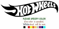 Hot Wheels Adhesive Vinyl Decal Sticker Car Truck Window Bumper Laptop 7""