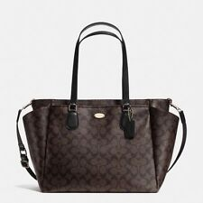 Coach F35414 Baby Diaper Bag in Signature Canvas Brown/Black
