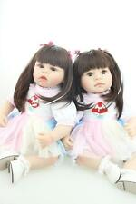 22'' Reborn Baby Twins 2 Toddler Girls Dolls Vinyl Silicone Likelife Sisters