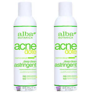 Alba Botanica Acne Dote Deep Clean Astringent maximum strength PACK OF 2