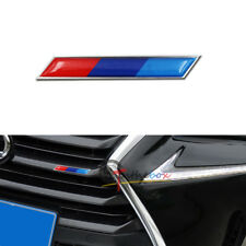 3D JDM M-Colored Stripes Aluminum Emblem Badge Car Front Grille Fender Trunk BMW