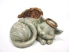 Pet Memorial Angel Cat Sleeping Cremation Urn Memorial Statue Bottom Load