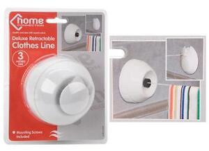Retractable Clothes Line Auto Deluxe Bathroom Kitchen Indoor Outdoor washing 3m