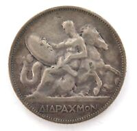 .SCARCE 1911 GREEK GREECE SILVER 2 DRACHMAS COIN.