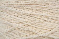2/4.5Nm heavy dk wt wool / nylon yarn, 200g cone, 480 yards, papyrus