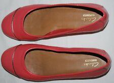 Clarks pink flat slip on ballet pumps size 4.5