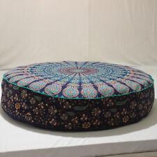 Indian Cotton Bohemian Floor Cushion Ethnic Decorative Floor Pillow Mandala Art