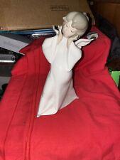 Lladro Mime Angel Figurine, (retired), glazed with gloss finish. B-13 J