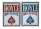 2 Decks Hoyle 100% Plastic Standard Poker Playing Cards Red & Blue New Decks
