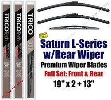 Wiper Blades 3pk Front Rear - fit 2000-2005 Saturn L Series - 19190x2/30130