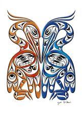 Herons - For Life 2 Joe Wilson Art Card Coast Salish SXWASET Native
