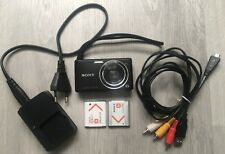 Lote camara digital ultra compacta Sony Cyber shot DSC-W380 y accesorios joblot