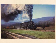 Baltimore & Ohio 7606 B&O Em-1 Steam Locomotive Train Chrome Postcard Unused