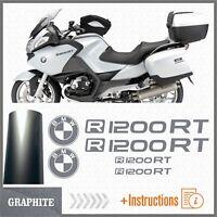 6x R1200RT Graphite BMW Motorrad PEGATINA R 1200 RT AUTOCOLLANT AUFKLEBER