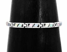 Elegant Sterling Silver Multicolor Mother of Pearl Bracelet Jewelry