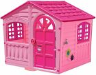 Kids Outdoor Playhouse Children Toddler Yard Indoor Girls Cottage Home Hut Pink