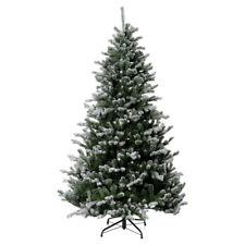 Sapin de Noël 210 cm neige glitter Poly Sheffield