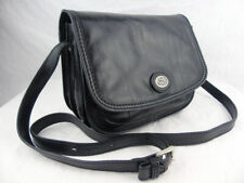 THE BRIDGE *current* classic black leather messenger crossbody bag