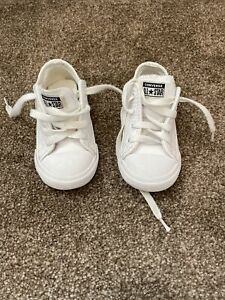 infant white leather converse size 7 all star toddler children's