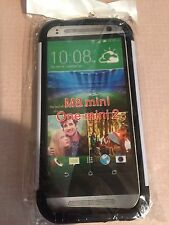 HTC M8 Mini One Mini 2 White Dual Case Hard Rubber Back