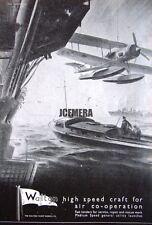 1941 'WALTON' Wartime High-Speed Motor Launch Ad #2 - WW2 Naval Print Advert