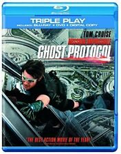 Mission Impossible: Ghost Protocol - Triple Pla (Blu-ray) (2012) Tom Cruise New