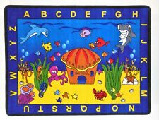 """See The Sea 4'4"""" x 5'6"""" children's educational and play area rug"""