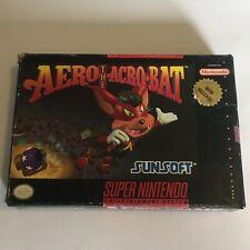 Aero The Acrobat (Super Nintendo, 1993) Game, Manual And Box SNES