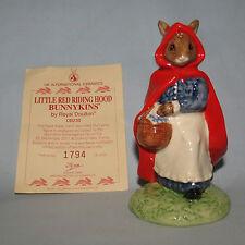Royal Doulton Ltd Ed UK made Little Red Riding Hood Bunnykins DB230 Box and Cert