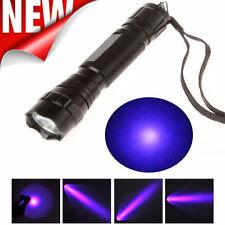 UV WF-501B LED 365NM Ultra Violet Blacklight Flashlight 18650 Torch Light Lamp