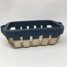 RH River Hill Pottery Basket Ceramic Woven Pottery Basket With Handles