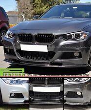 12-15 BMW F30 F31 4Dr M-Tech & M-Sport VR Style Carbon Fiber Front Bumper Lip