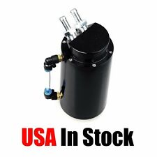 Oil Catch Reservoir Tank Can Breather Kit Billet Aluminum Cylinder Black