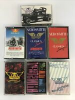 Lot of 7 Different Aerosmith Cassette Tapes - Excellent condition