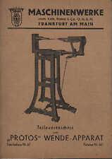 FRANKFURT/M., Katalog, Protos Schuh-Maschinen 657, W. Ullrich KG Näh-Maschinen