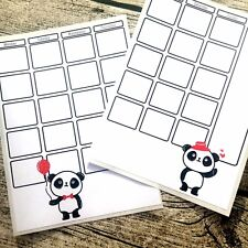 Panda two page journal calendar, Bujo cheat page, Month at a glance, Bullet