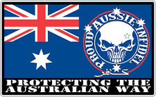 AUSSIE PRIDE PROUD INFIDEL STICKER SOUTHERN CROSS PROTECTING AUSTRALIAN WAY PAIR
