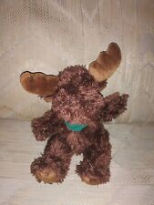 """Its All Greek To Me Moose Plush 9"""" National City Mortgage Green Scarf Brown."""