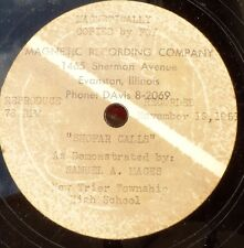 jewish synagogue cantorial 78 RPM-shofar calls-samuel mages- illinois 1951