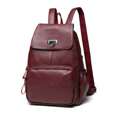 New Genuine Leather Girls Women's Backpack Travel Shoulder Bag Schoolbag Bookbag