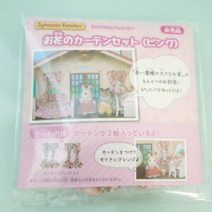 Sylvanian Families Limitted Item FLOWER PINK CURTAIN 2 SET Epoch Calico Critters